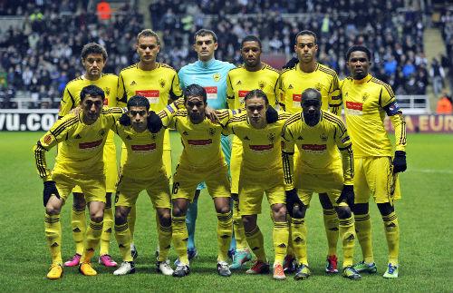 Футболисты «Анжи» готовятся к матчу Лиги Европы